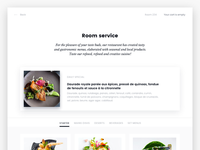 One Touch 360 ui ux service room hotel luxury app ipad
