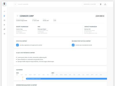 Lecedre - contract management client customer contract managment crm web app