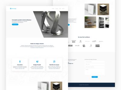 Bluet Design web agency blue ui ux design product landing
