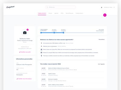 Easyshoot app branding pink ui design software crm application ui ux ux  ui