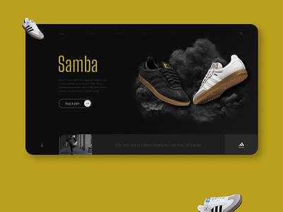 Adidas Samba Landing Page adidas originals uiuxdesign uidesign ux ui uiux webdesign