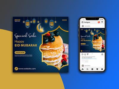 Special Sale Social Media Post Template Design mubarak eid happy logo mockups photoshop sale special facebook ads instagram post media social illustrator design