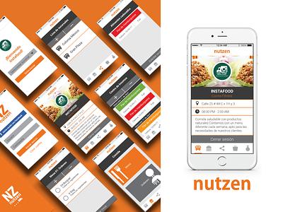 Nutzen - Mobile App app mobile food ui ux design ios app ios 7
