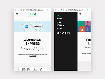 NEW SITE! portfolio html jquery css graphic design screen illustration dreamweaver design mobile web design