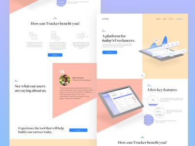 Tracking Website  simple clean design website icon illustration landing page contrast app ux ui