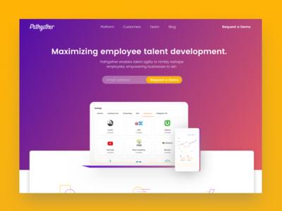 Pathgather Pitch v1 design website icon illustration product design landing page contrast app ux ui