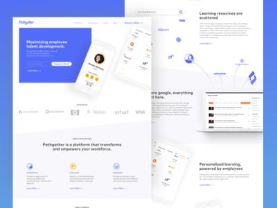 Pathgather Pitch v2 design website illustration product design landing page white app ux ui