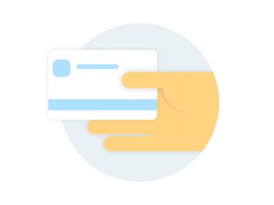 Kustomer Illustration -- Update Credit Card billing credit card color clean visual ui flat design illustration
