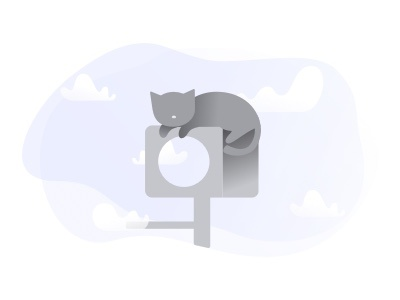 No Results clouds gray ui web color empty state design branding clean illustration simple cats