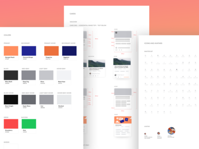 Pathgather Styleguide style guide branding clean modern design website product design cards simple app ux ui