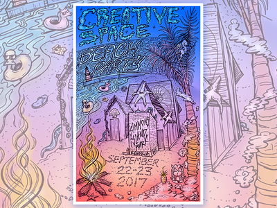Creative Space Beach Party poster