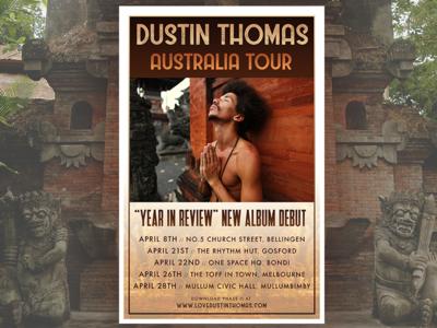 Dustin Thomas Australia Tour poster
