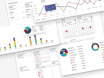 Dashboard widgets & UI elements element widget dashboard app design mobile app design interface ui design ui app
