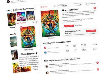 filmtoro.cz website UI design website app design design interface ui design ui app