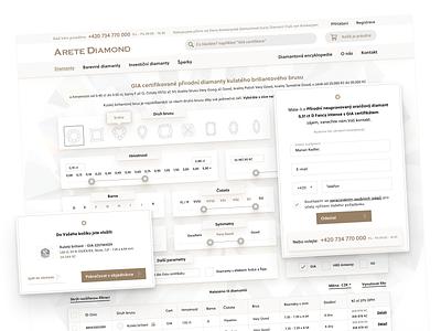 E-commerce website aretediamond.cz UI design store ecommerce mobile app app design design interface ui design ui app