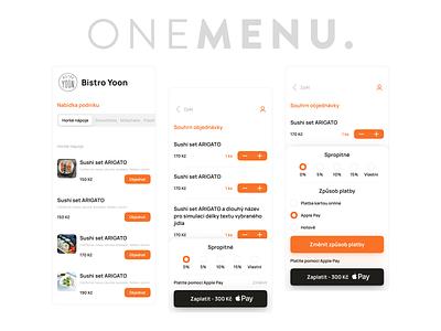 OneMenu take away mobile app UI design take away mobile app app design design interface ui design ui app