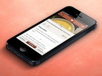 Iphone 5 recipe view