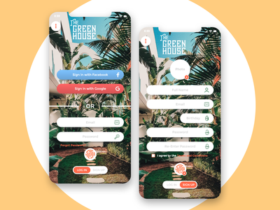 Greenhouse Hotel Booking UI/UX interactive profile greenhouse payment checkout sign up sign in mobile app mobile booking hotel ui  ux adobe xd photoshop branding ux ui