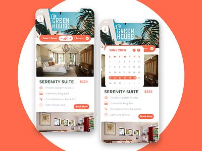 Greenhouse Booking 2 app hotel booking app hotel booking adobe xd ux ui