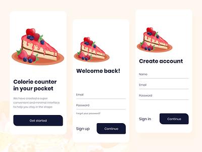 Adobe XD - Sign Up Form login adobe xd food sign up android ios design flat interface design illustration interface app design app mobile ux ui