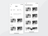 iPhone X Catering App Wireframes