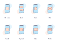 Mobile Functions Icons