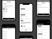 Mail Client Wireframes - IOS