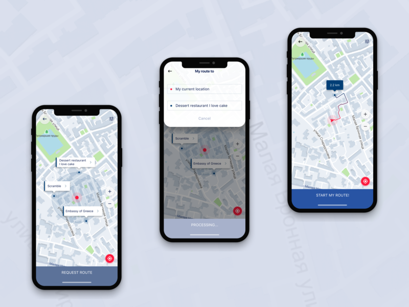 Map Navigator - IOS by Vikky on Dribbble