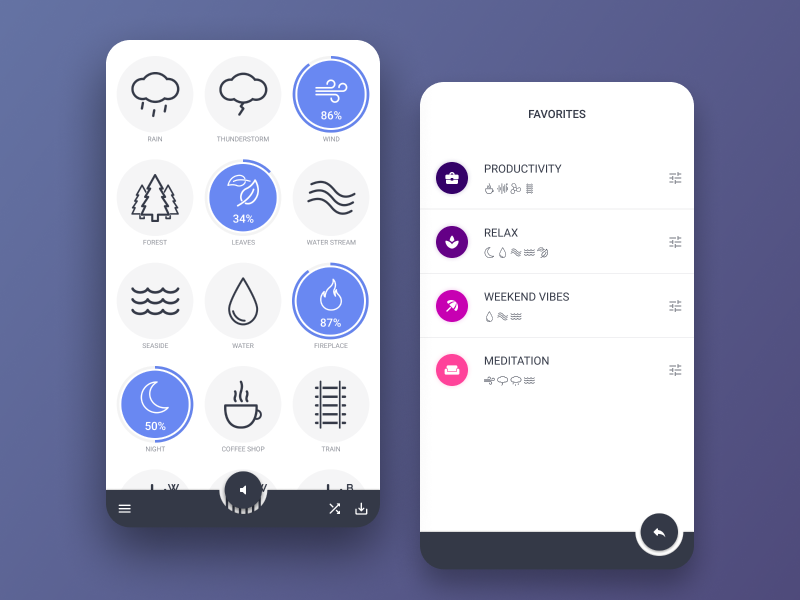 Noise Generator App - Android by Vikky on Dribbble