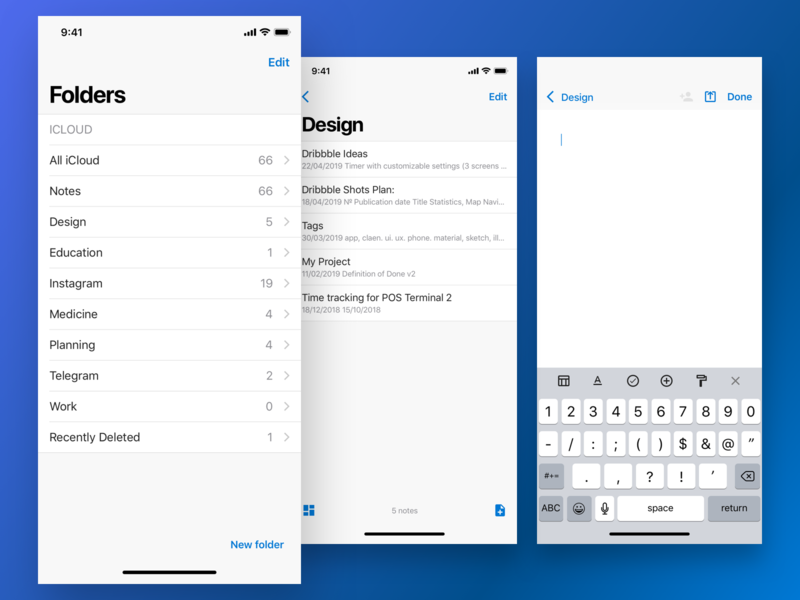 Fluent Notes - IOS by Vikky on Dribbble