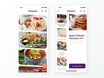 Avocado - Colourful App Concept avocado ui design ux ui sketch recipe app recipe preview mobile material list ios interface design interface flat clean cards app design android android app