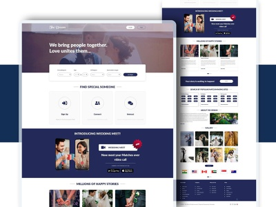 Find bride and groom website Design fresh branding graphic design