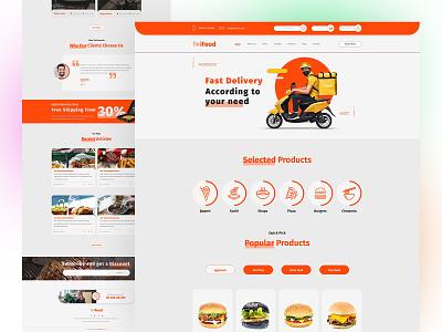 Delifood Food Delivery Website landing page branding graphic design food dinner booking fresh