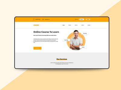 E-Learning Landing Page graphic design