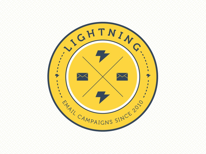 Lightning Logo for Hallway Studios logo idea brand development email campaigns circle icons marketing hallway design