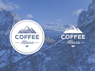 Coffee Altura logo design coffee branding brand mountain drink hot art direction graphic design coffee bean