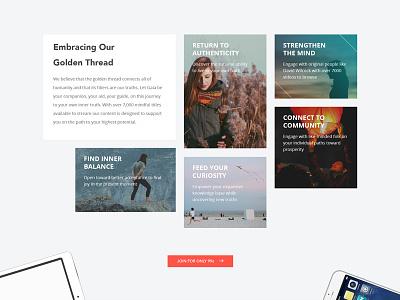 Gaia redesign embrace distinction promo healing web site spiritual gaia design web design ui