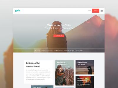 Gaia redesign top