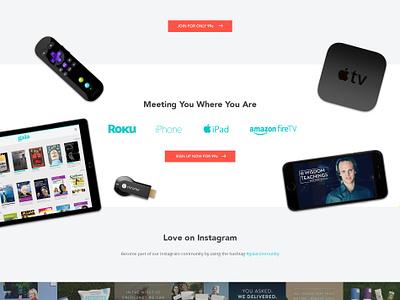 Gaia Full Page web site devices spiritual promo healing gaia embrace social web ui design