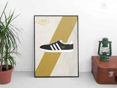 Gazelle Classic  graphic design trainer fashion classic casuals adidas sport poster art illustration
