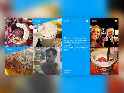 Oomf! Social hub area web site web design energy social promo hub oomf! breakfast distinction ui design