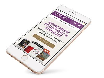 Bigger Jugs Reponsive ecom website distinction promo drink web site wine beer design web design ui