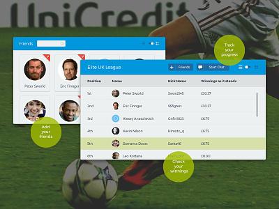 Who knows wins promo area web design art direction graphic football team fantasy sport app web ui design