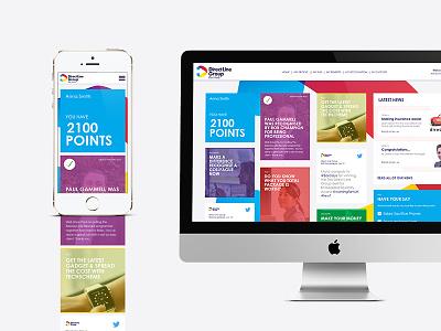 Direct Line portal site web design art direction mobile panels graphic portal colourful app web ui design