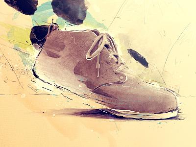Film sketch birkenstock footwear film storyboard sketch handmade texture