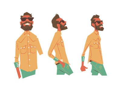 Glastonbury WIP glastonbury wip bbc music festival character illustration summer music cool chilled animation film hip hipster sunglasses motion bands