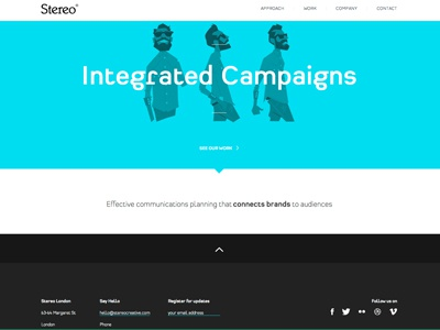 Stereo Website stereo website digital design type folio branding content campaign stereo creative