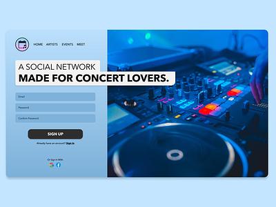 Daily UI 001 - Sign Up dailyui adobe xd dailyui 001 web design ui design sign up