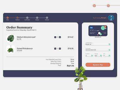Daily UI 002 - Checkout checkout ui design web design dailyui dailyui 002 adobe xd