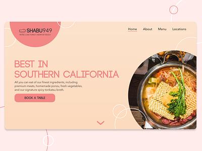 Daily UI 003 - Landing Page home page landing page restaurant branding dailyui 003 dailyui ui design adobe xd